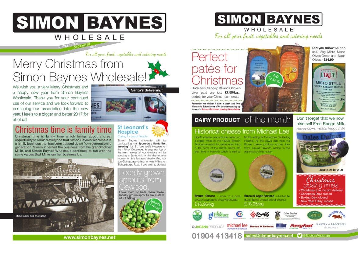 Simon Baynes December 2016 Newsletter