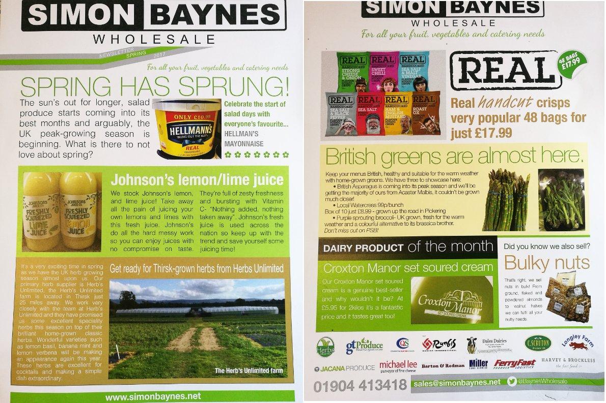 Simon Baynes Spring 2017 Newsletter