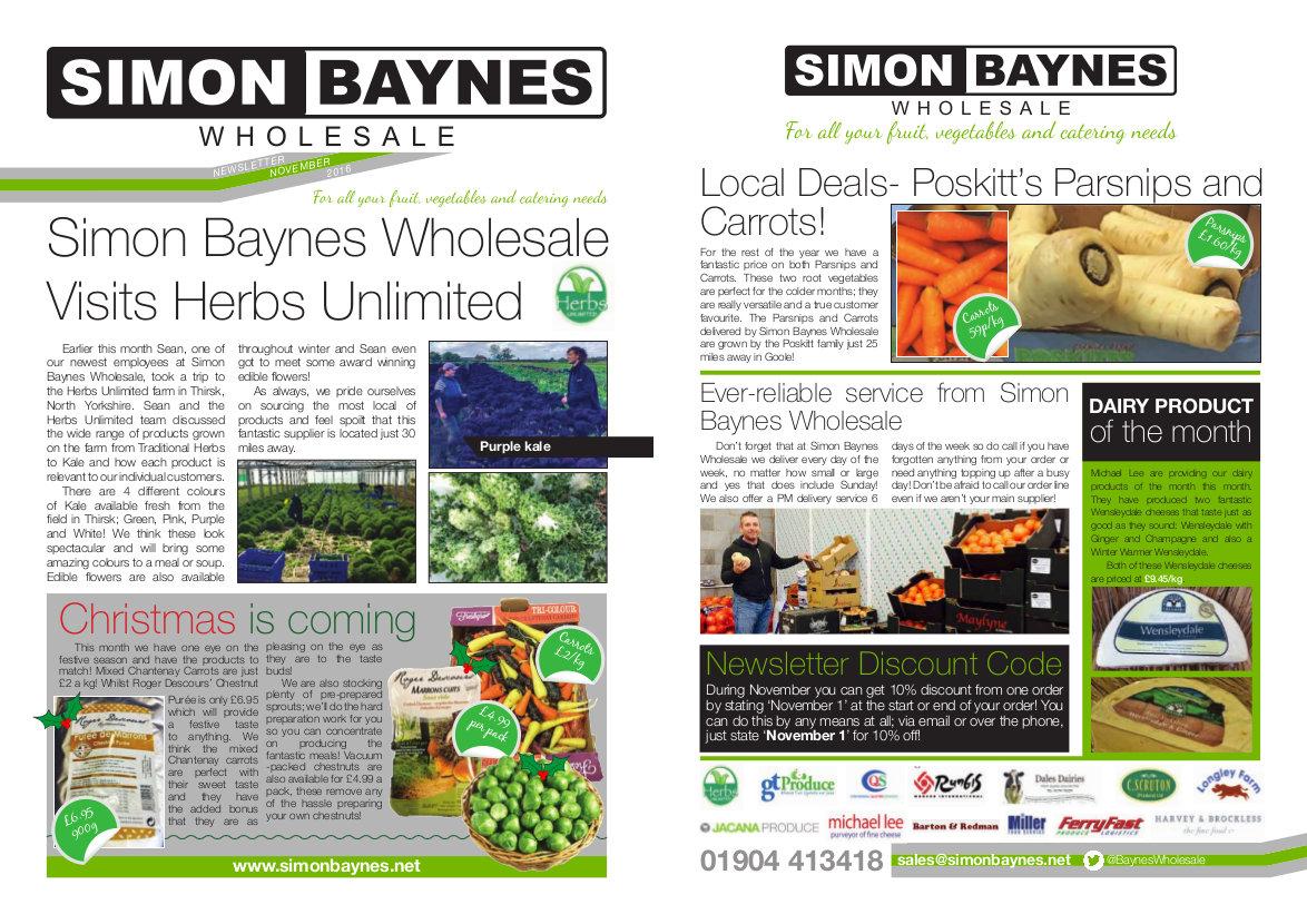 Simon Baynes November 2016 Newsletter